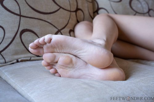 big soles closeup